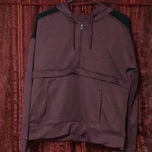 UNDER ARMOUR- mid zip pullover hoodie